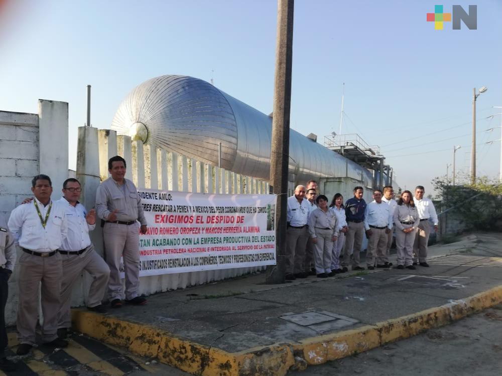 Nuevamente trabajadores petroleros se manifestaron por despido de 50 compañeros