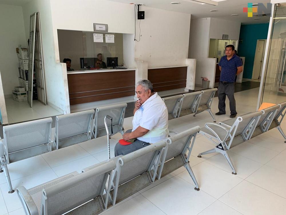 Por pandemia, baja el número de trámites en Oficina de Hacienda de Tuxpan