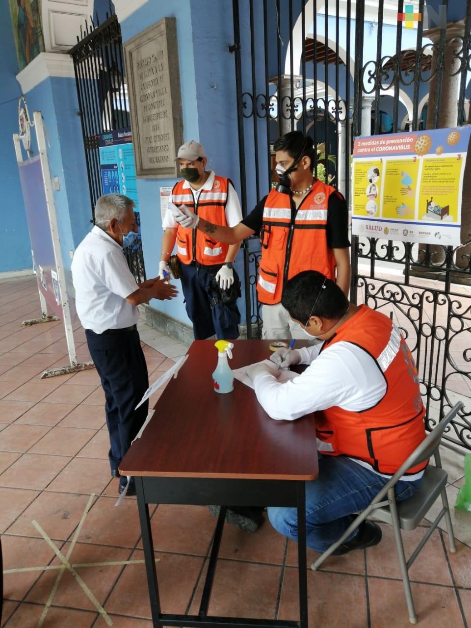Ayuntamiento de Coatepec implementó medidas sanitarias