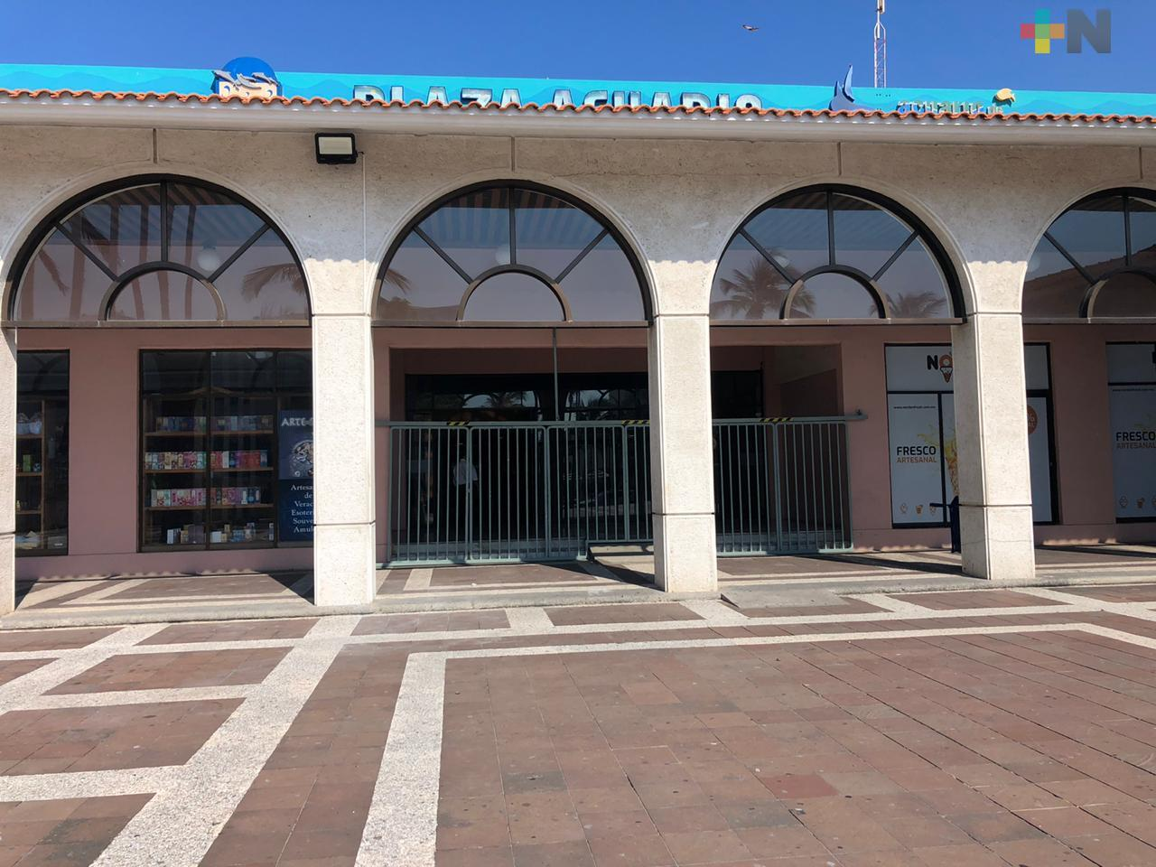 Será hasta el 7 de septiembre cuando reabra Plaza Acuario en el puerto de Veracruz