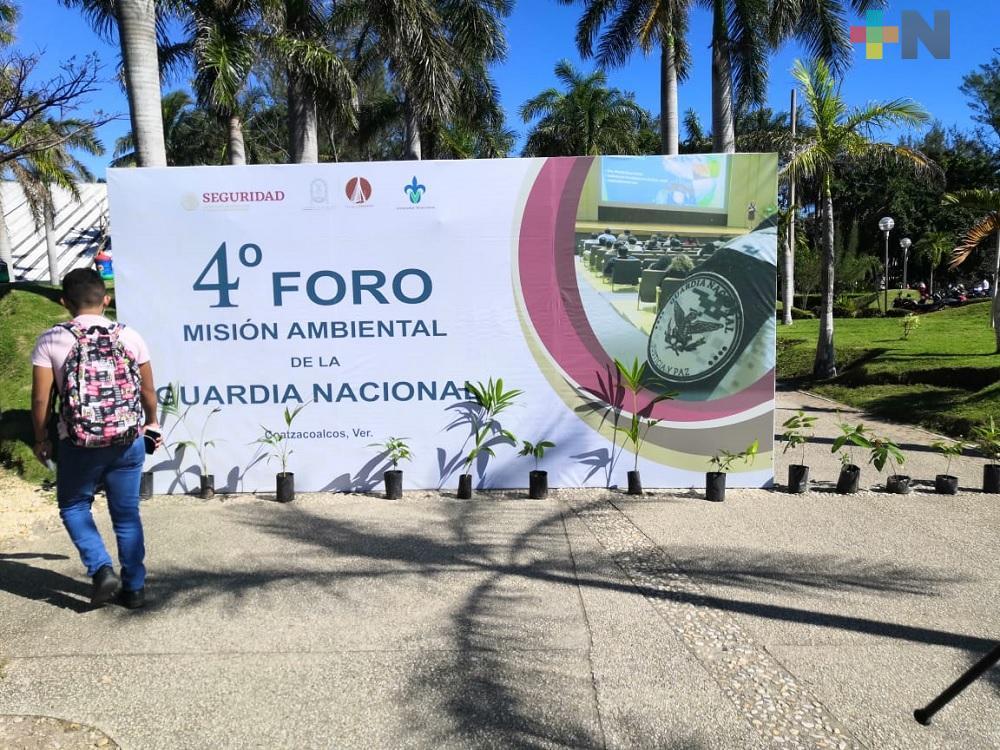Realizan foro ambiental de la Guardia Nacional en Coatzacoalcos