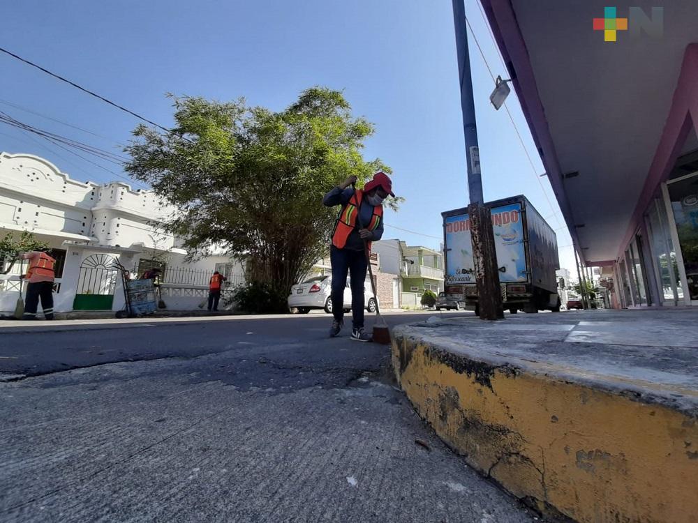 Limpia Pública de Veracruz reforzó medidas sanitarias; 50 empleados han dado positivo a COVID-19