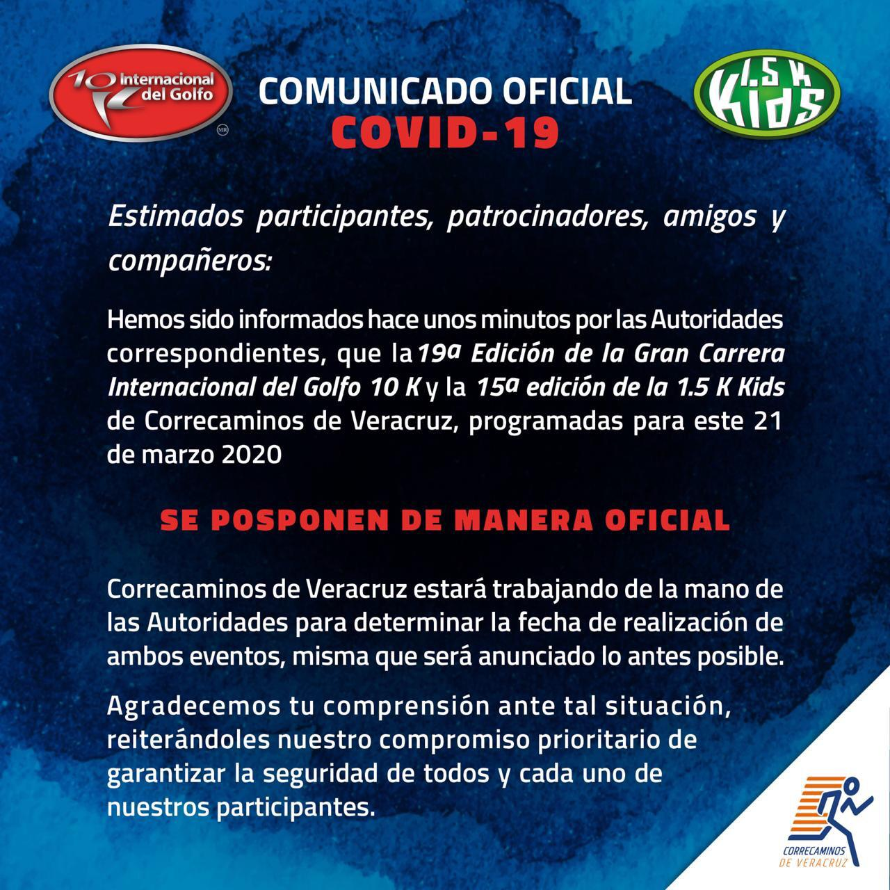 En Veracruz, posponen Carrera Internacional del Golfo por Covid-19