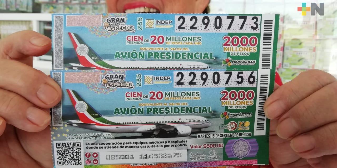 Se han vendido más del 60% de cachitos para la rifa alusiva al avión presidencial