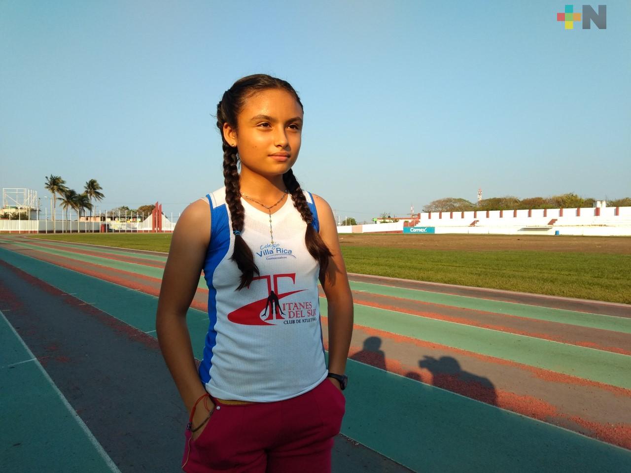 Competirá en 80 metros con vallas de Juegos Nacionales