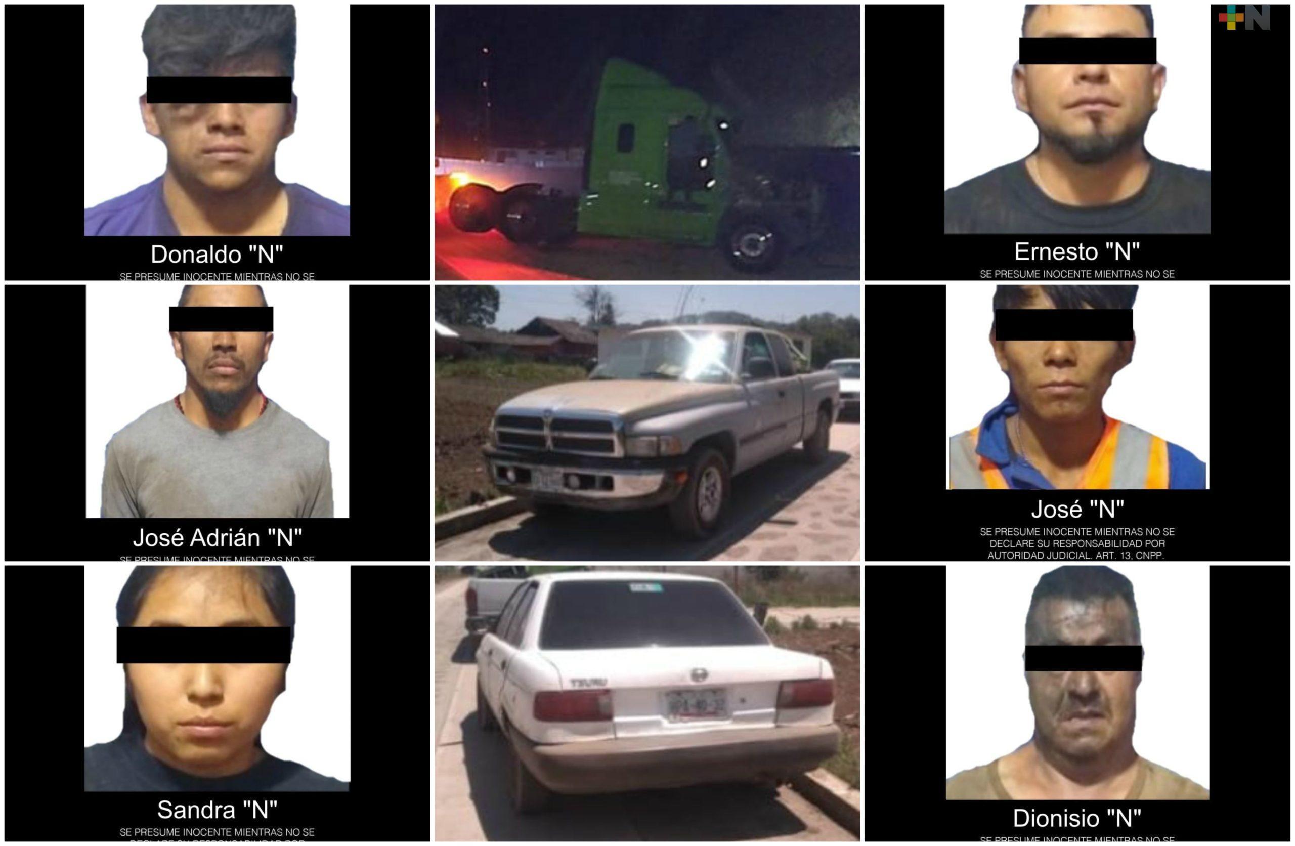 Desarticula SSP presunta banda dedicada al robo de transporte de carga, en Jalacingo