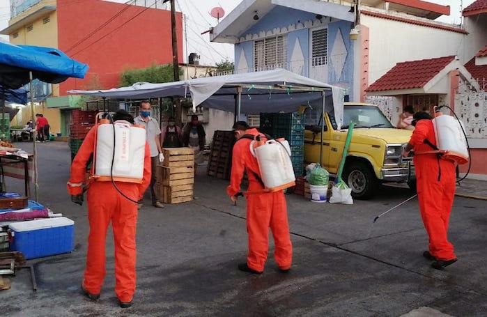 PC Xalapa mantiene acciones de desinfección en lugares más concurridos