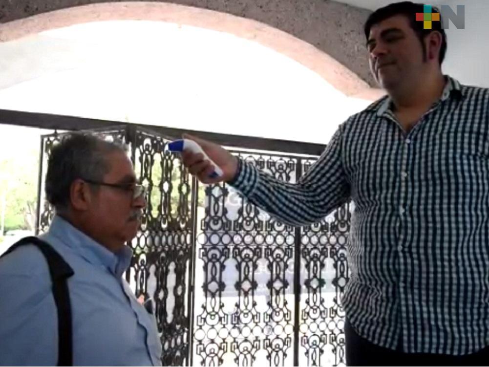Ayuntamiento de Tantoyuca mantiene habilitadas oficinas;  extrema medidas de higiene