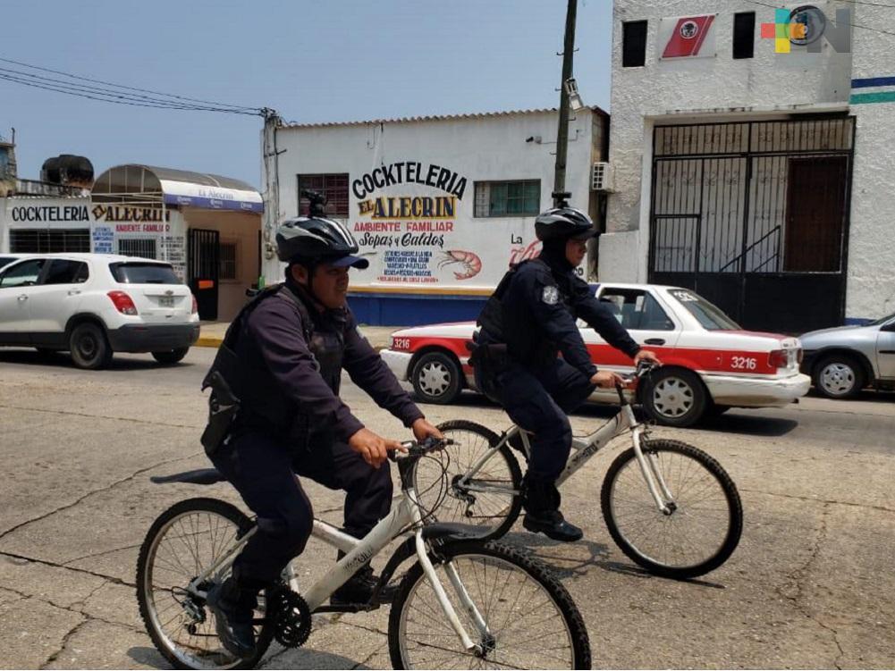 Bici patrulleros de Coatzacoalcos documentarán  intervenciones y delitos