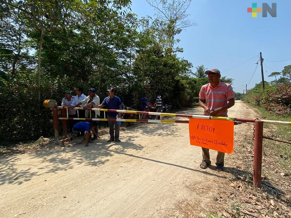 Comunidad La Victoria impide entrada a vehículos foráneos y comerciantes para prevenir contagio de Covid-19