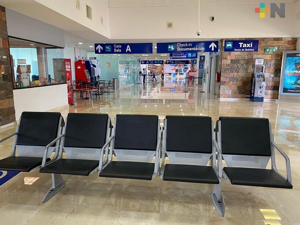 Covid-19 reduce número de vuelos en Aeropuerto Internacional de Minatitlán