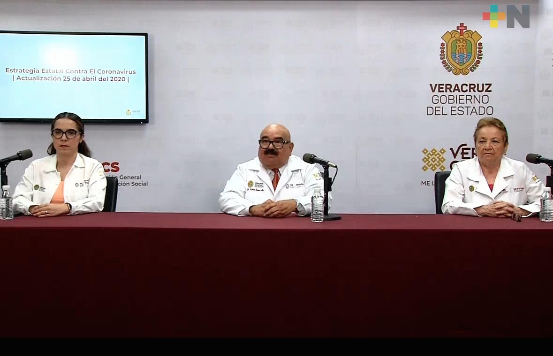 Se registran 110 casos nuevos de COVID-19 en Veracruz