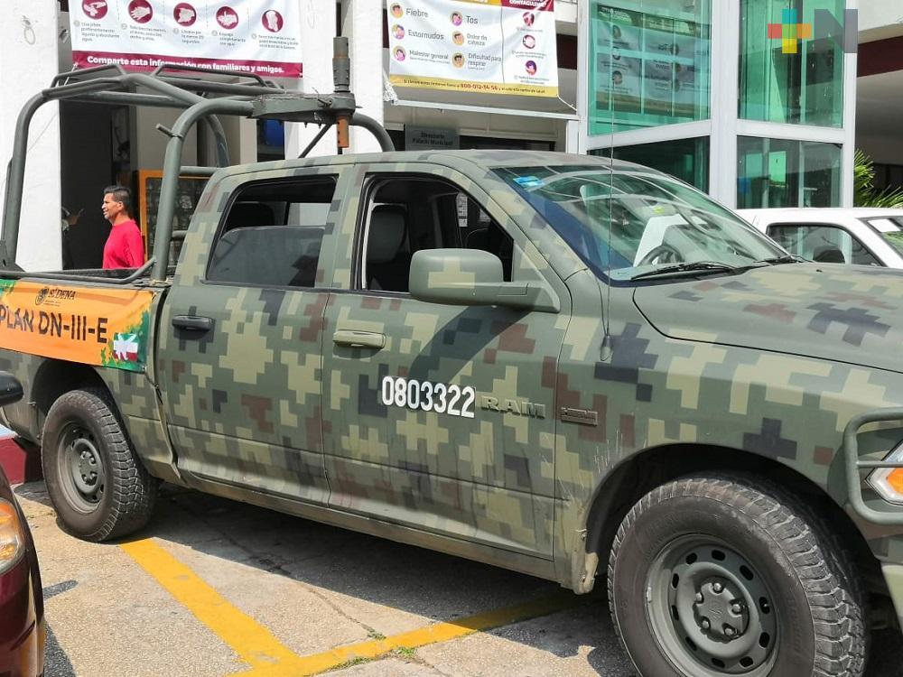 Guardia Nacional, Ejército y Marina siguen Plan DN III-E en calles de Coatzacoalcos