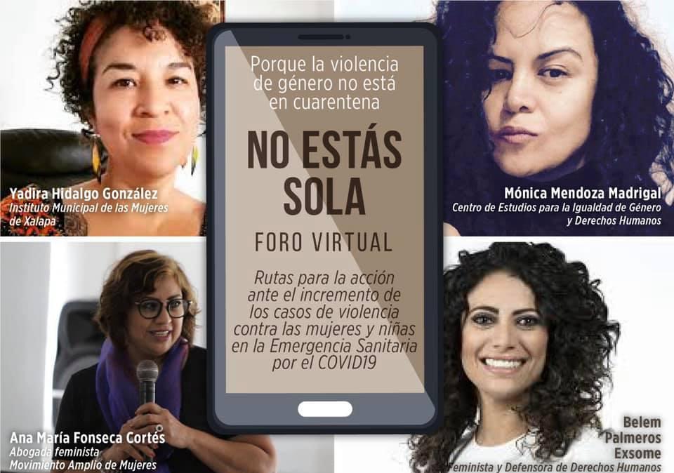 """Congreso del Estado invita al foro virtual """"No estás sola"""""""