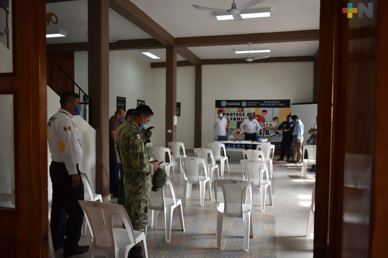 Coordinan acciones en Tantoyuca contra el Covid-19