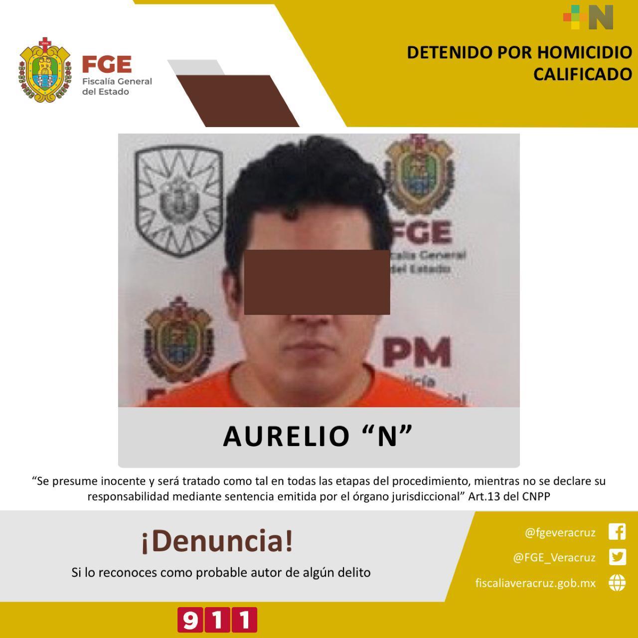 Detenido presunto responsable del homicidio de Narciso Elvira;  reitera FGE que no habrá impunidad en Veracruz