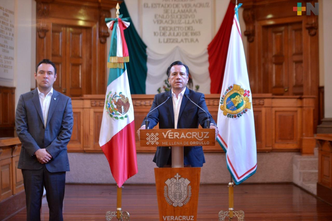 Gobierno de Veracruz respalda Pacto Fiscal del Gobierno Federal