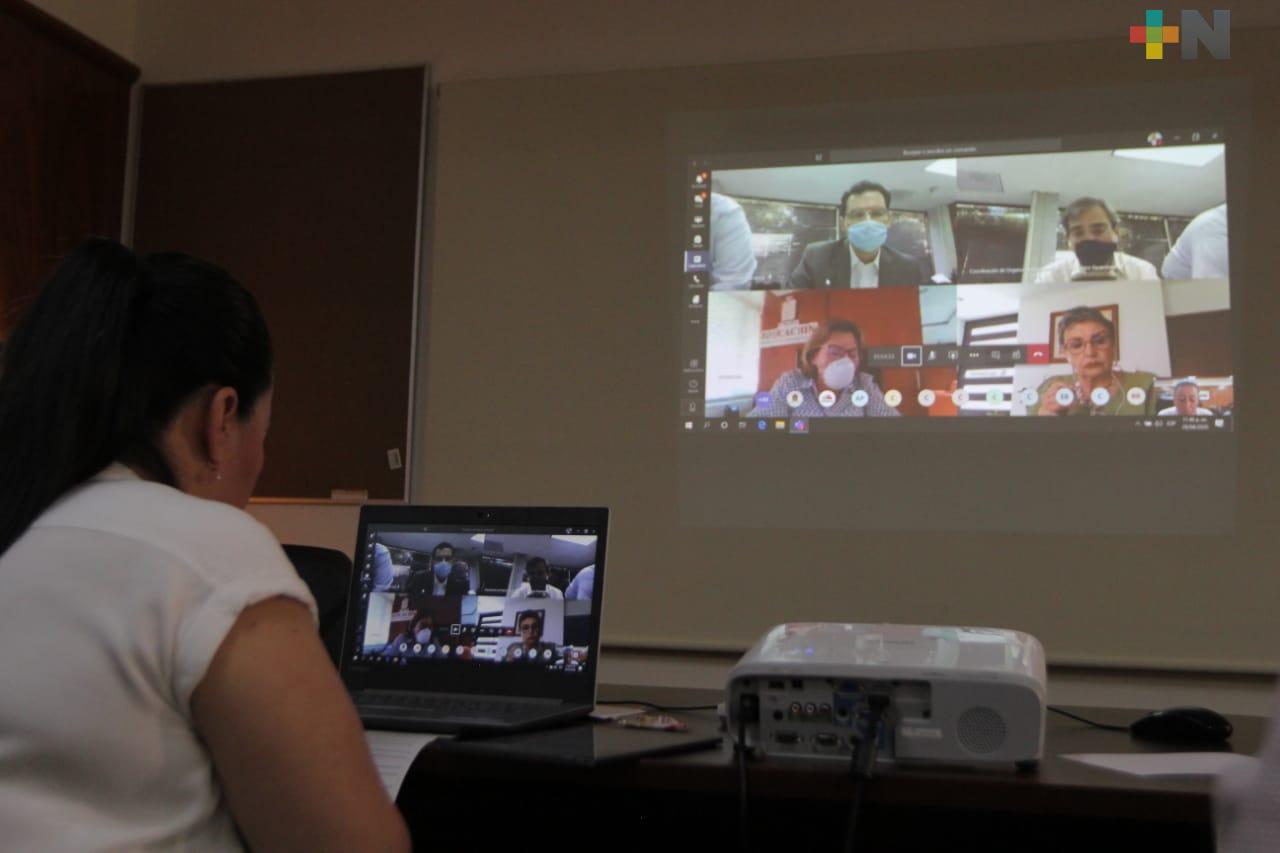 Comparte SEV experiencias de Educando a Distancia en reunión virtual de CONAEDU