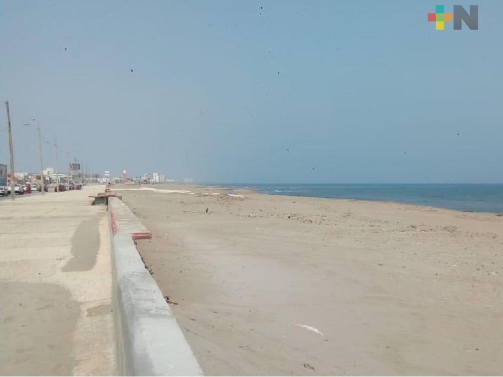 Coatzacoalqueños respetan «Quédate en casa»; zona costera prácticamente vacía