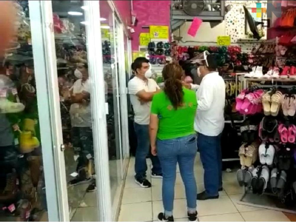 Por no acatar medidas preventivas, STPS cerró 15 comercios en Coatzacoalcos