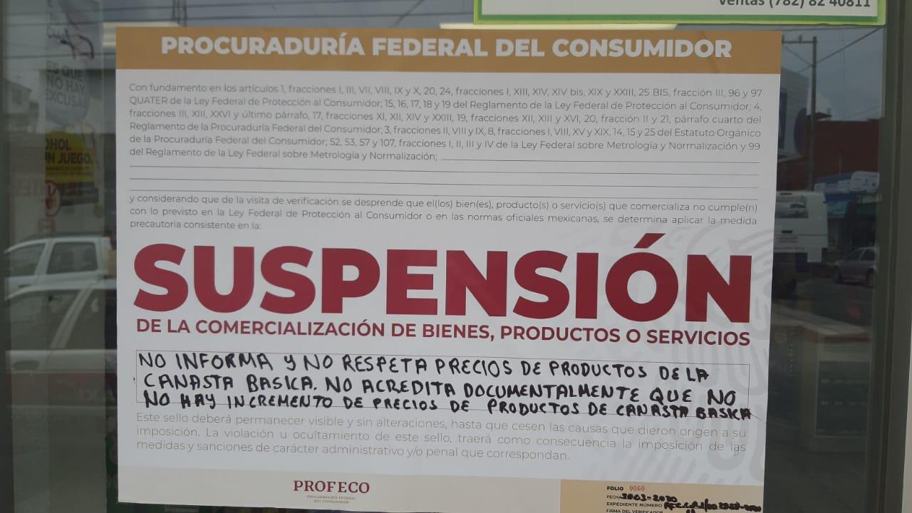 Profeco sanciona a tiendas de autoservicio en Tuxpan