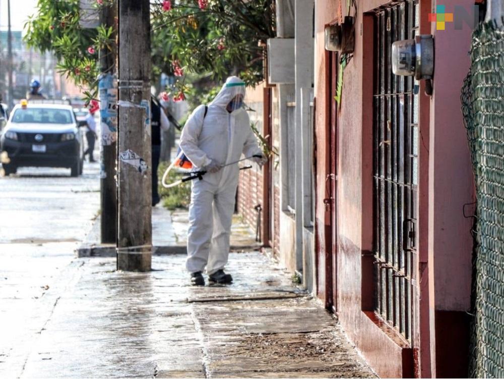 Desde el inicio de la pandemia, en Tuxpan se han sanitizado alrededor de 100 colonias