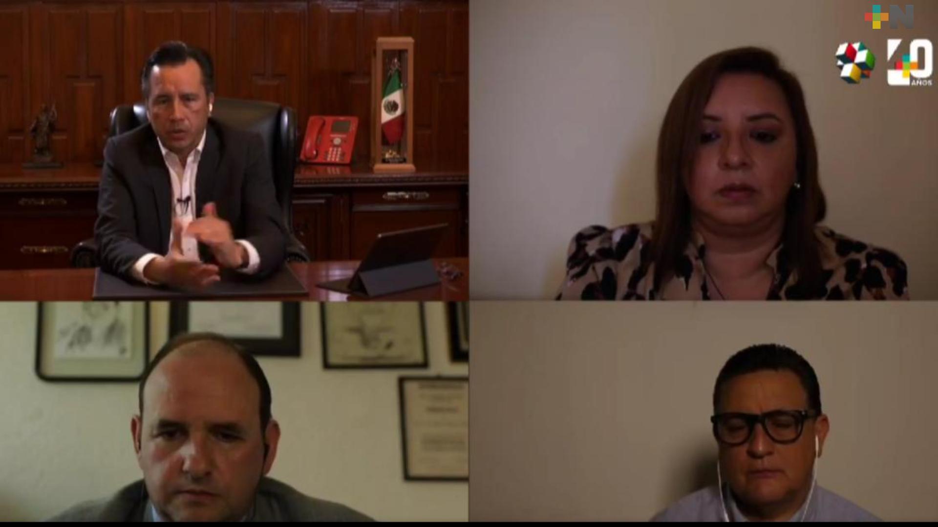 Destina Gobierno de Veracruz, 300 mdp para atender a afectados por COVID-19: Cuitláhuac García