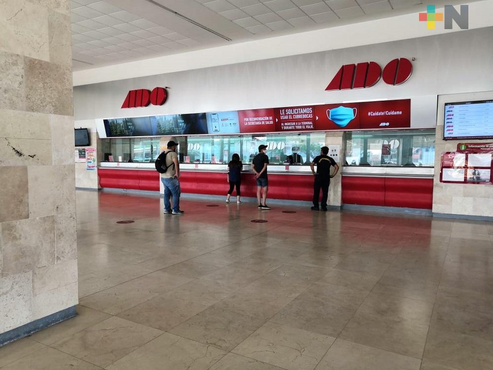 Terminal de autobuses de Coatzacoalcos, cumple con protocolos de sanidad