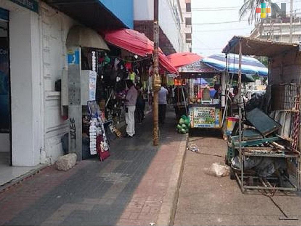 Vendedores ambulantes del centro de Coatzacoalcos recibirán apoyo en especie
