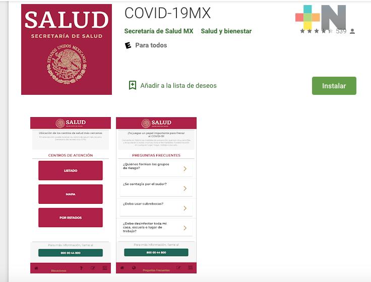 Salud presenta aplicación COVID-19MX