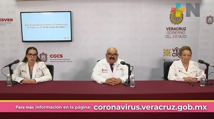 Suman 60 fallecidos por COVID-19 en el estado de Veracruz; positivos: 672