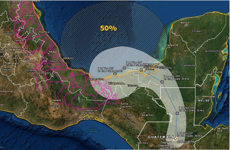 Emiten SPC recomendaciones por tormenta tropical «Amanda»