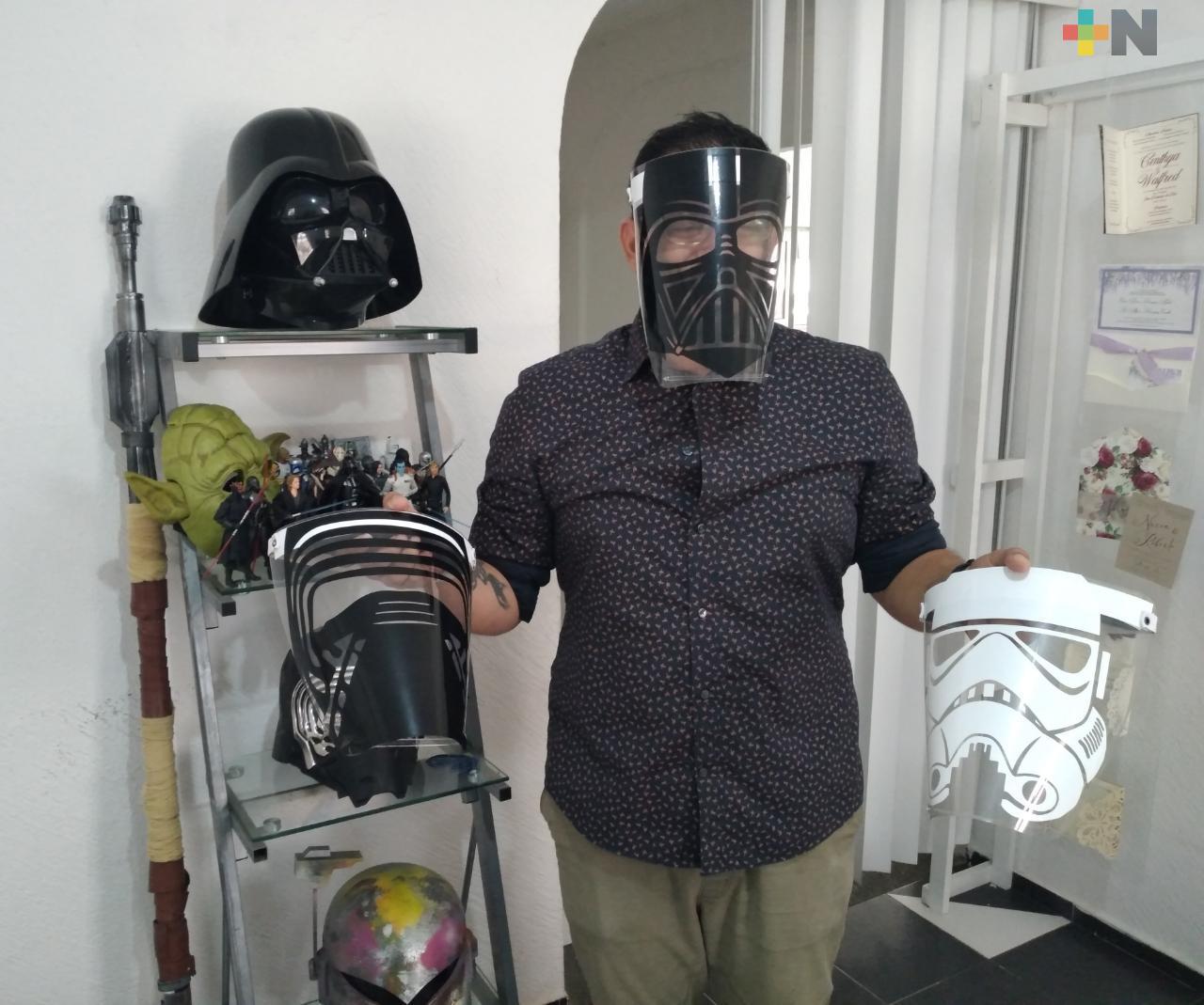 Crean caretas con motivos de Star Wars, en ciudad de Veracruz