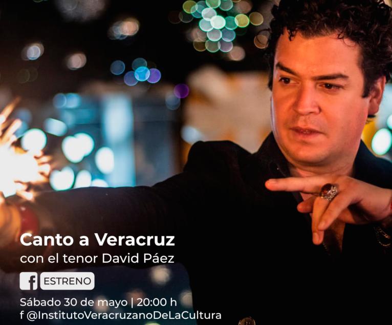 """Estrena IVEC concierto dedicado a Veracruz por el tenor David Páez: """"Canto a Veracruz"""""""