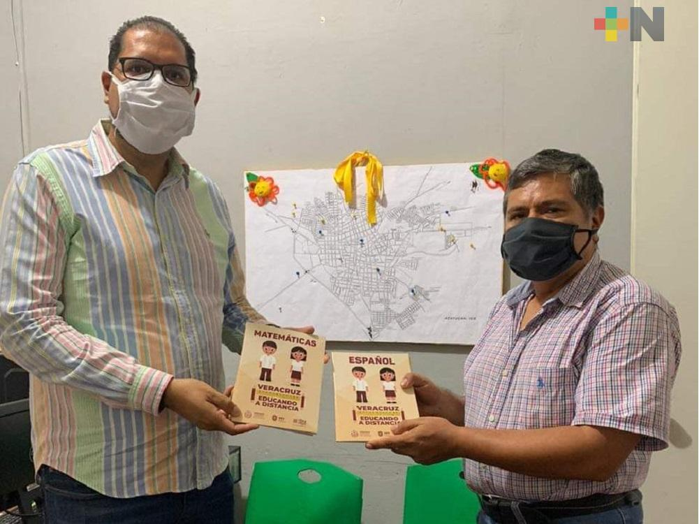 Continúa entrega de cuadernillos «Veracruz educando a distancia» en el sur de Veracruz