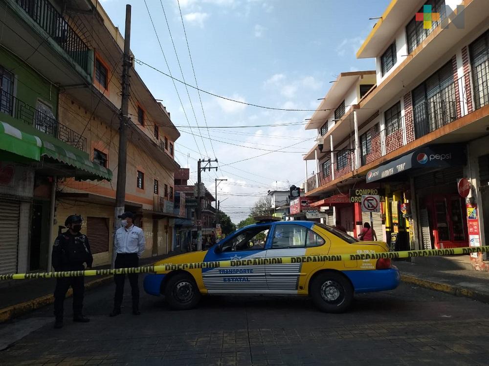 Continúan los filtros de seguridad en calles del centro de Xalapa