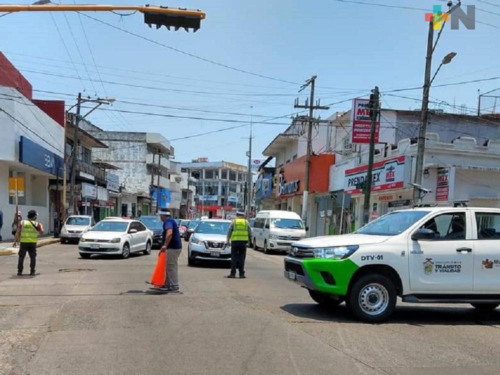 De lunes a viernes, continuarán cerradas principales avenidas del centro de Minatitlán