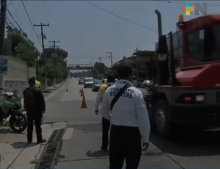 Continúa filtro sanitario vehicular en entrada al municipio de Coatepec