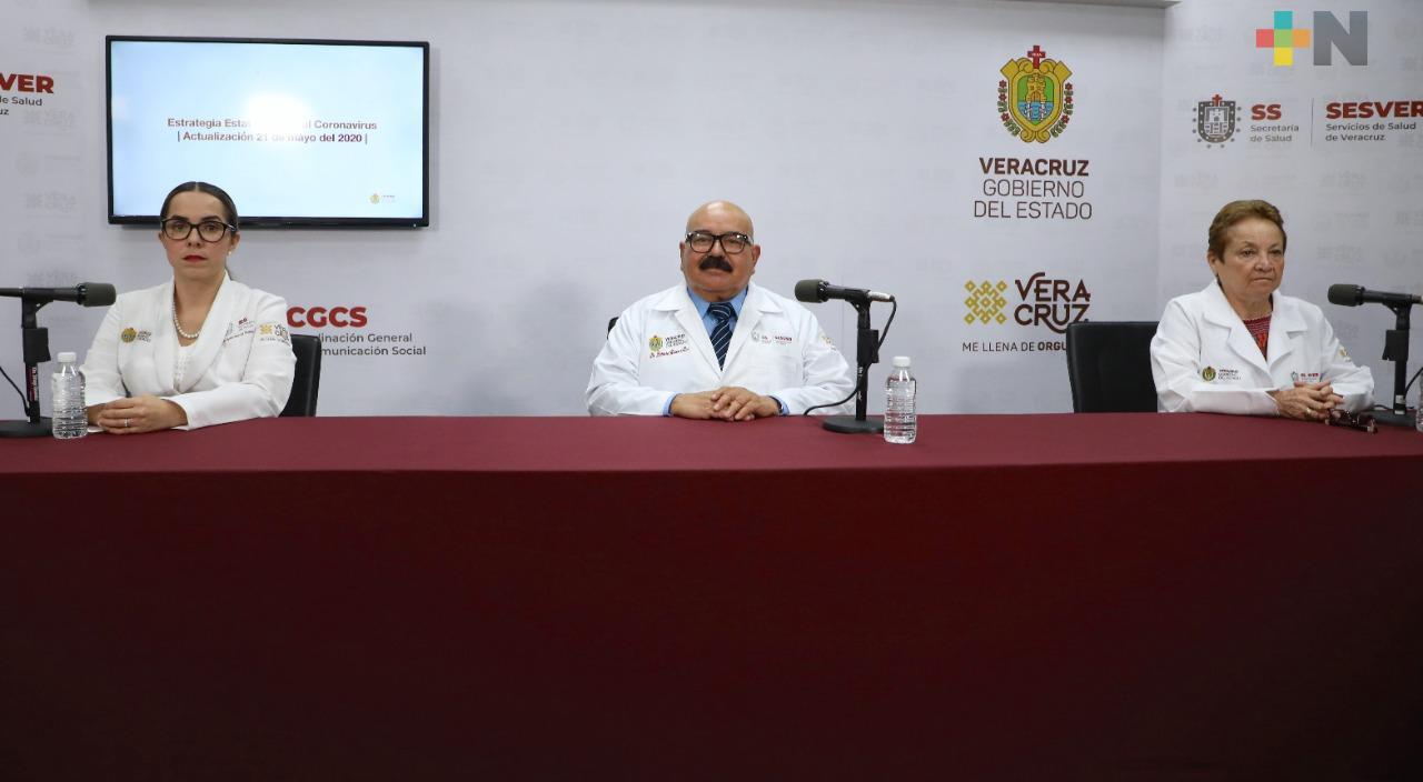 Hay 142 nuevos casos de COVID-19 en Veracruz