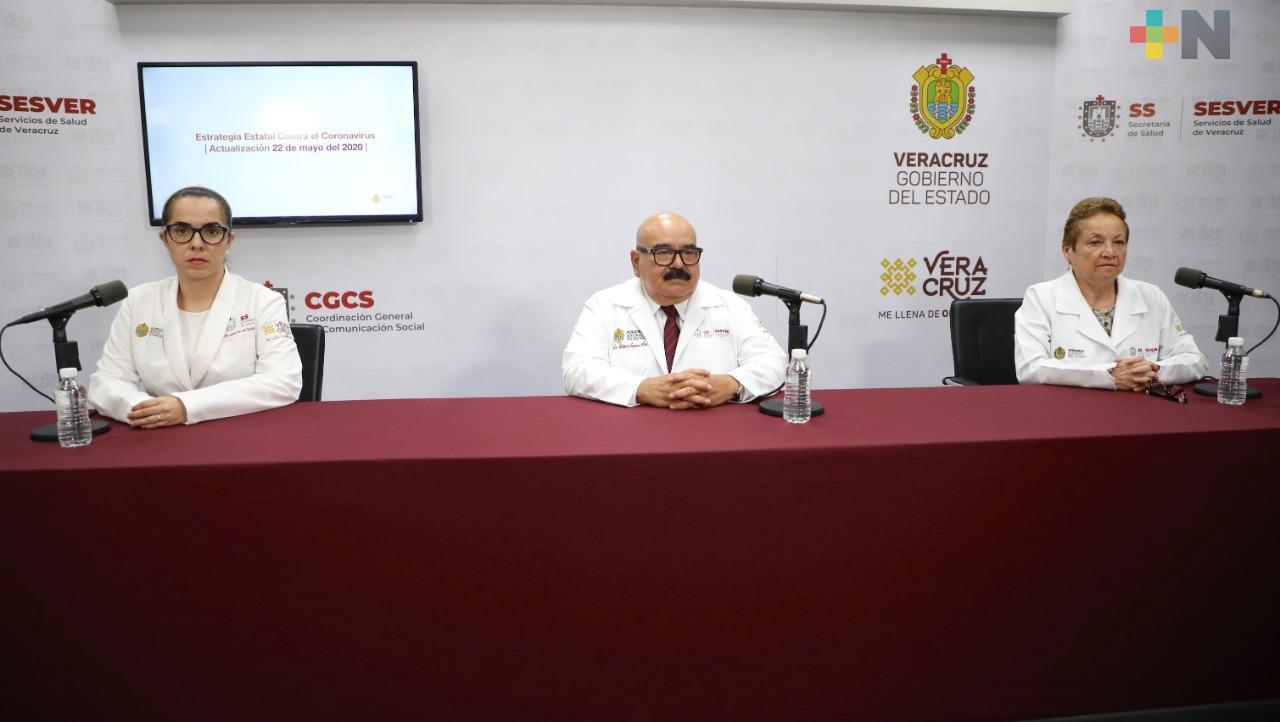 Aumentan a 2 mil 607 los casos de COVID-19 en Veracruz