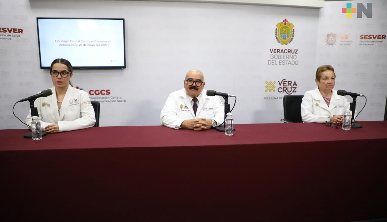 Registra Veracruz 312 nuevos casos de COVID-19; ya hay 3 mil 261
