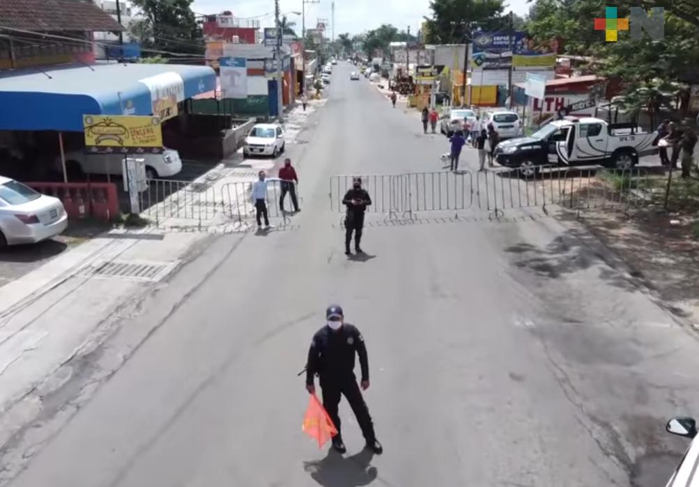 En horarios cierran la avenida principal de Las Trancas durante fin de semana