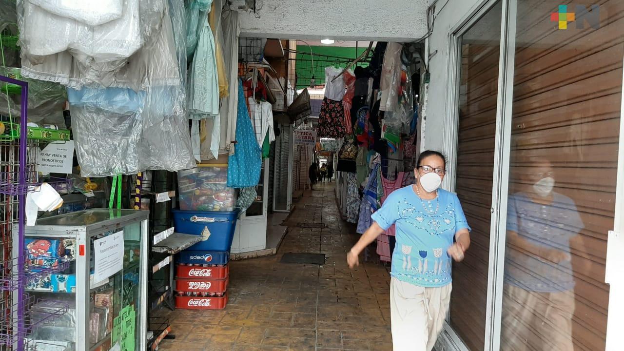 Locales del Mercado Hidalgo del municipio de Veracruz ya trabajan al 80%