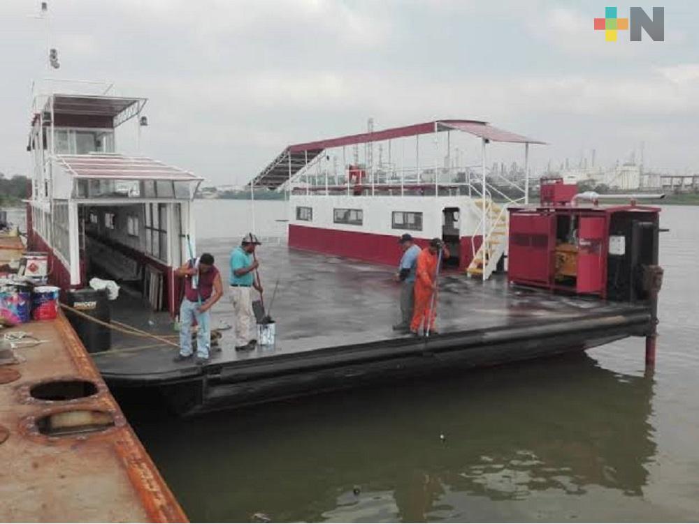 Otra vez habrá horario controlado en servicio de transbordador en Coatzacoalcos