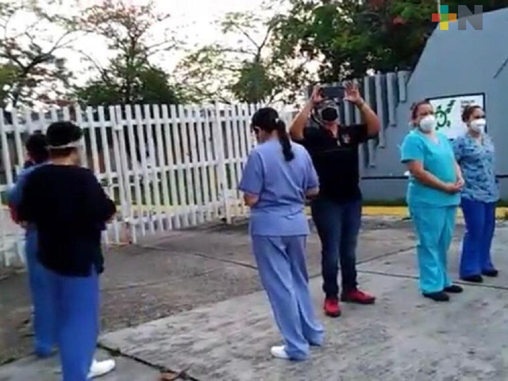 Personal del Hospital de Pemex en Minatitlán, solicita insumos para atender a pacientes con COVID-19