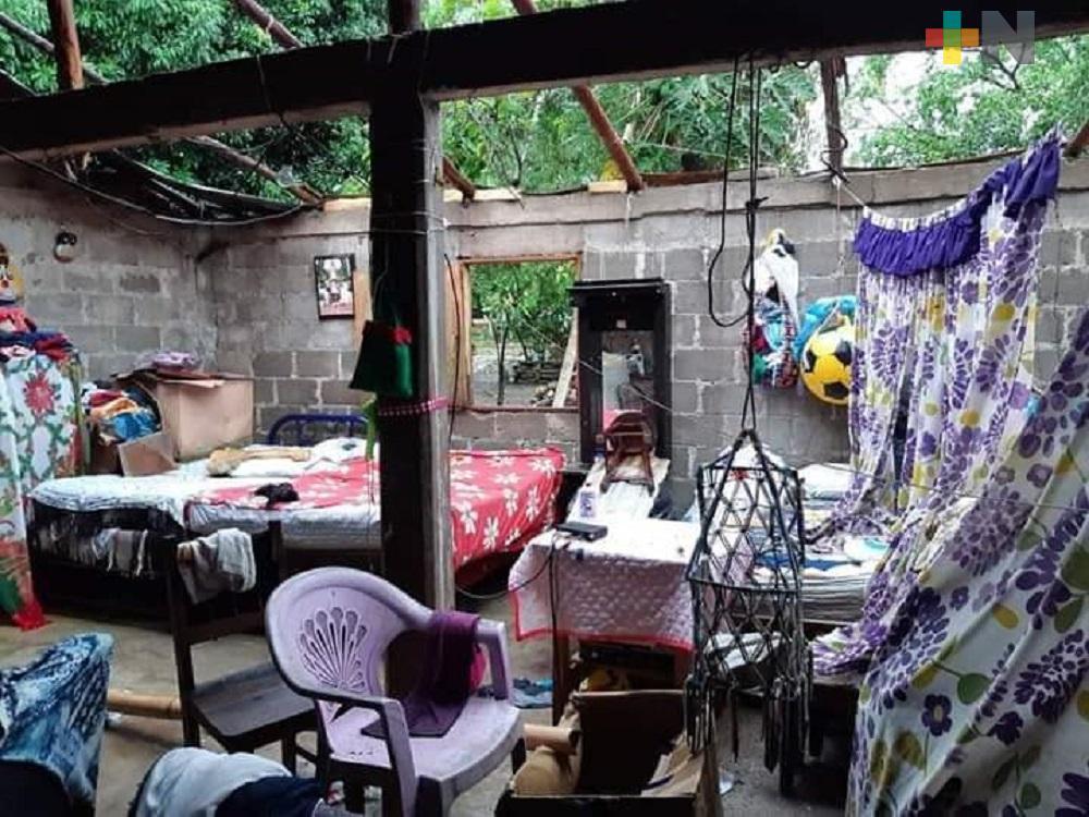 Turbonada en Tuxpan provoca apagón, caída de árboles, postes de  luz y destechamientos