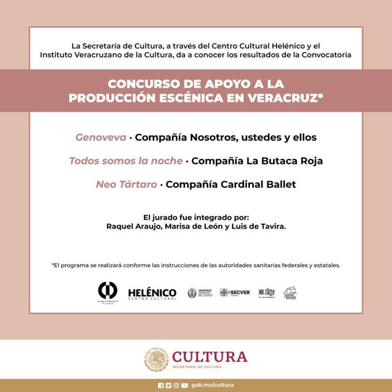 IVEC emite resultados del Concurso de Apoyo a la Producción Escénica en Veracruz
