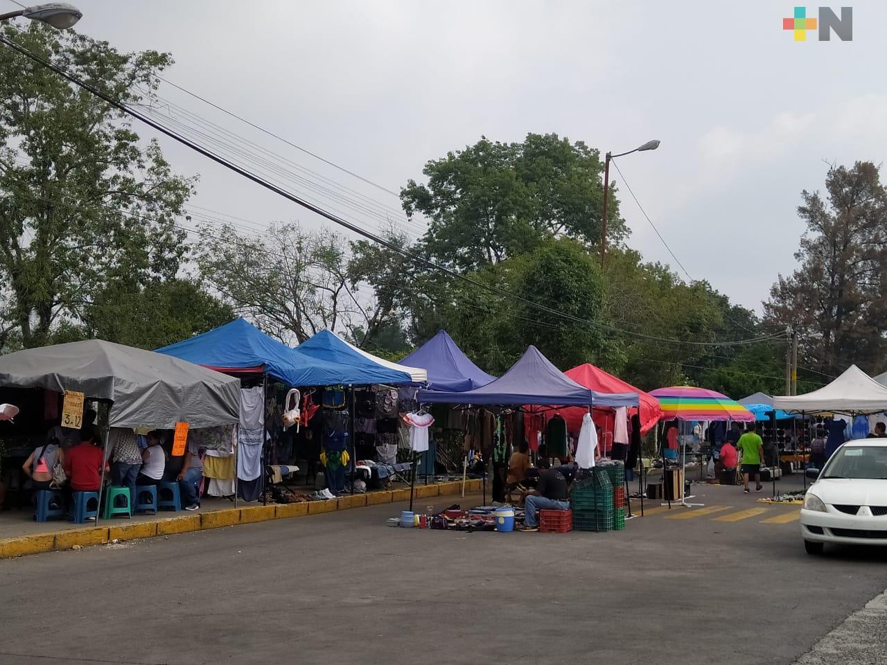 Para evitar contagios por COVID-19, la próxima semana no se podrá instalar tianguis en Xalapa