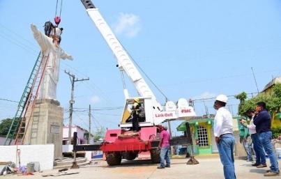 Instalan en Soconusco réplica del Cristo Redentor de Brasil