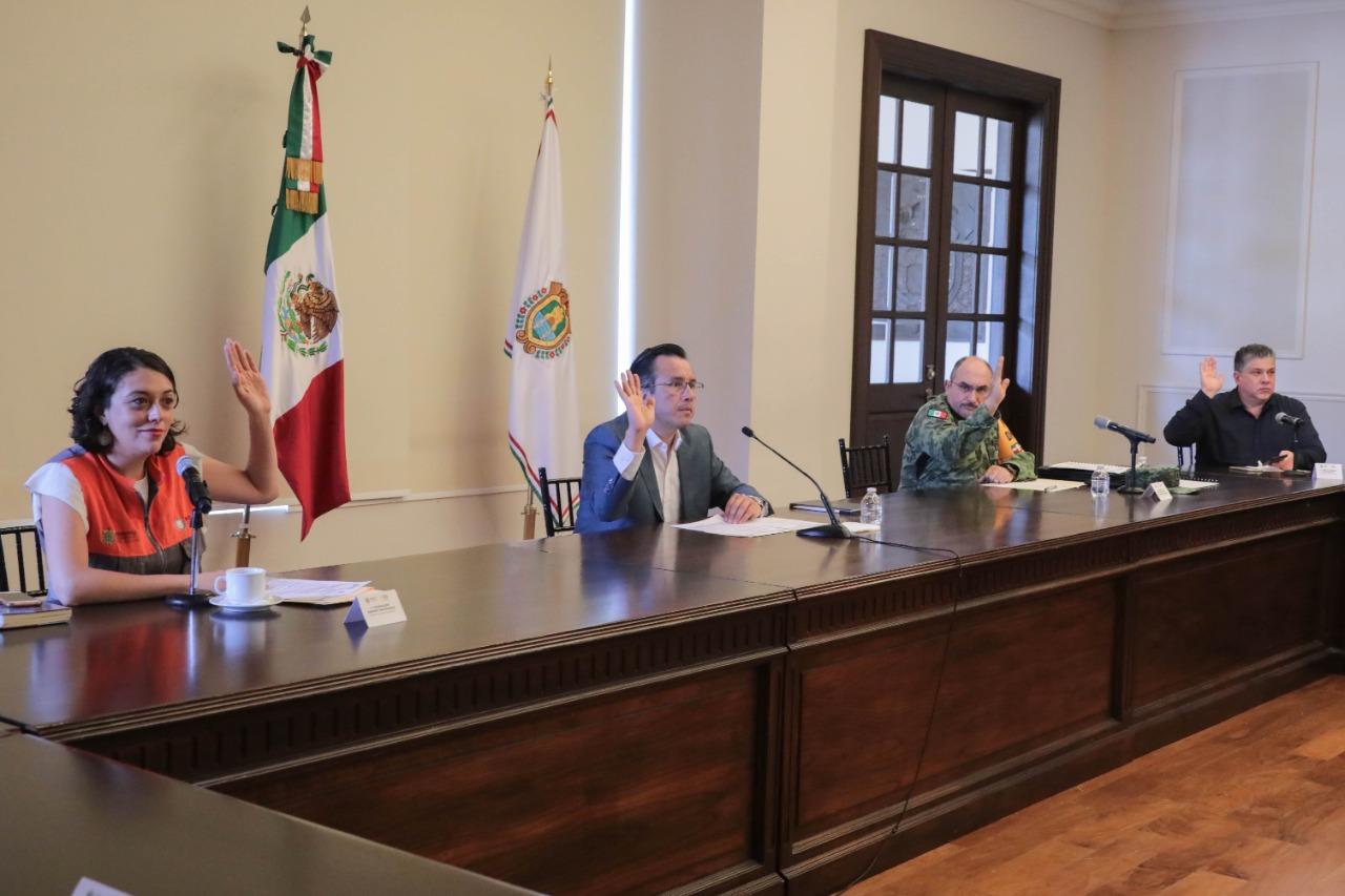 Presenta Cuitláhuac García, Plan Operativo para Temporada de Lluvias y Ciclones Tropicales